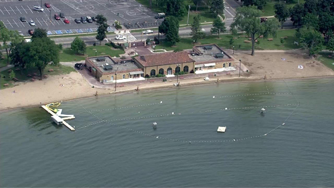 Health officials have enacted swimming bans at some area beaches in the far northwest suburbs.