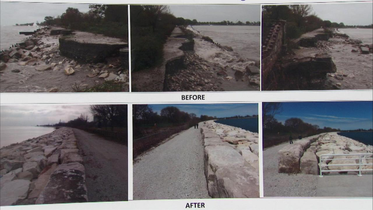 An effort to protect Chicagos lakefront from erosion took another step forward Friday.
