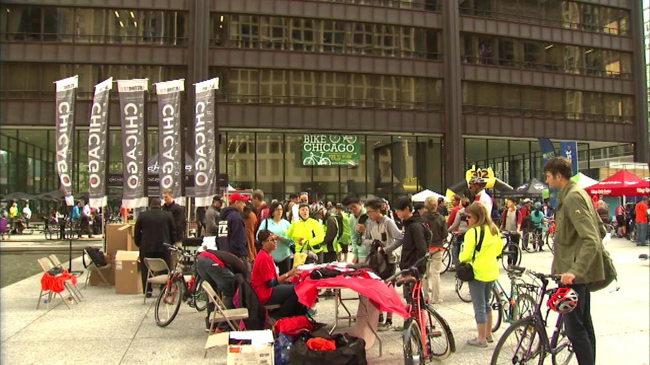 Bike to Work Week wrapped up in Chicago with a rally in Daley Plaza Friday morning.