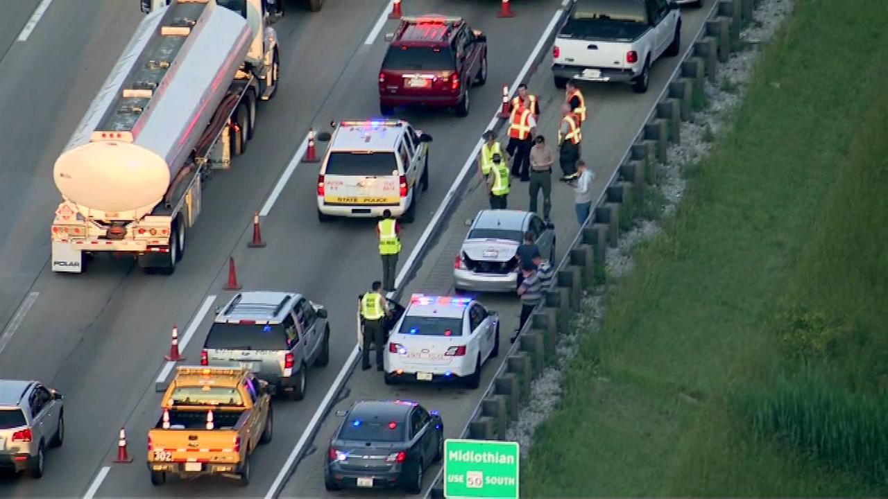 Illinois State Police are investigating after a person was hit and killed by a truck near 127th Street in the south suburbs.