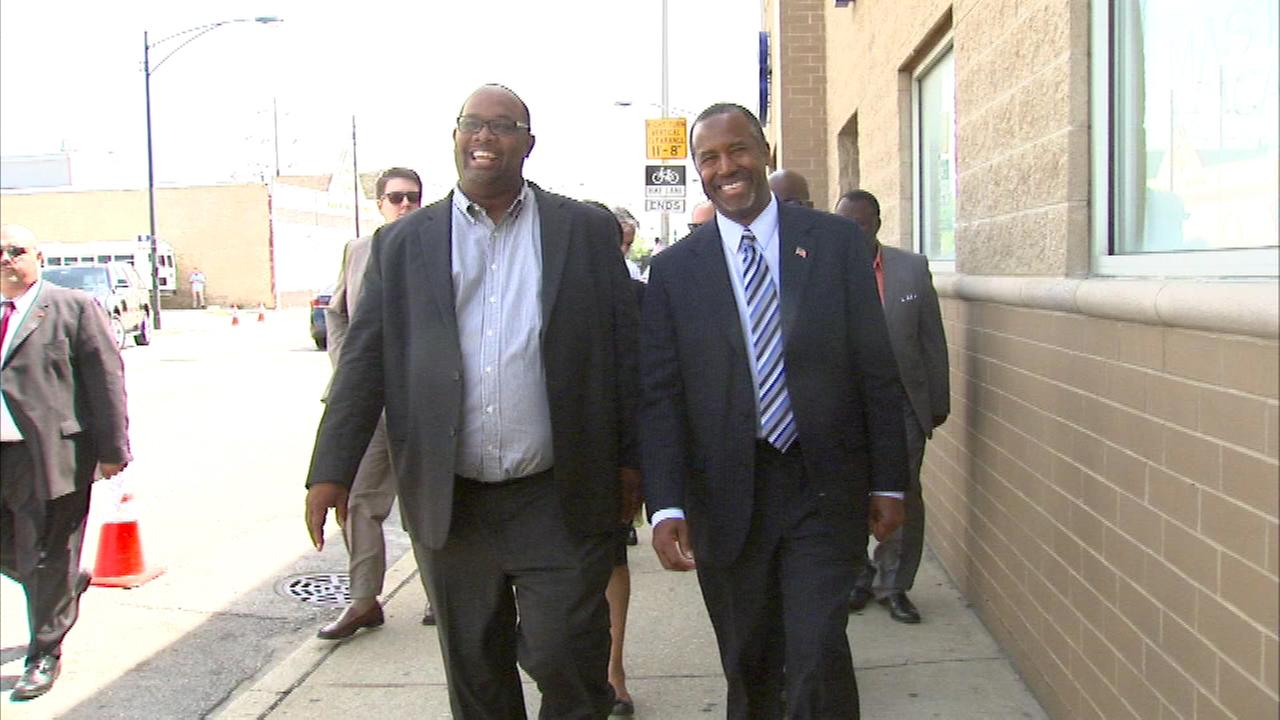 Republican presidential candidate Ben Carson made a stop in Chicago Sunday.