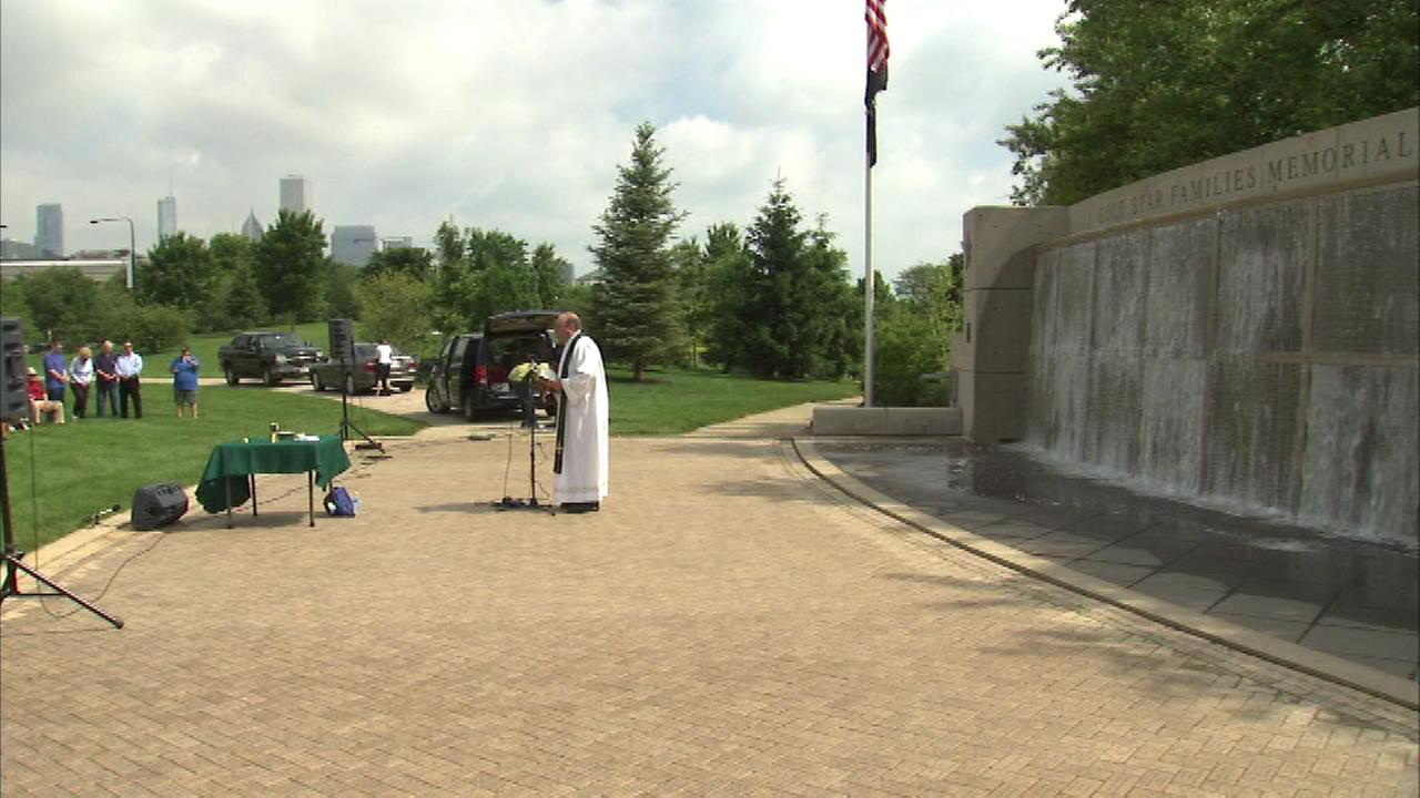 Families and members of law enforcement gathered Sunday to remember fathers who were killed in the line of duty.