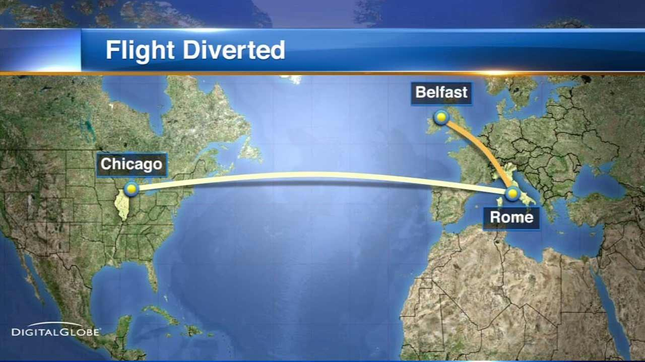A United Airlines flight from Rome finally arrived Sunday at Chicagos OHare International Airport after a 21-hour delay in Ireland