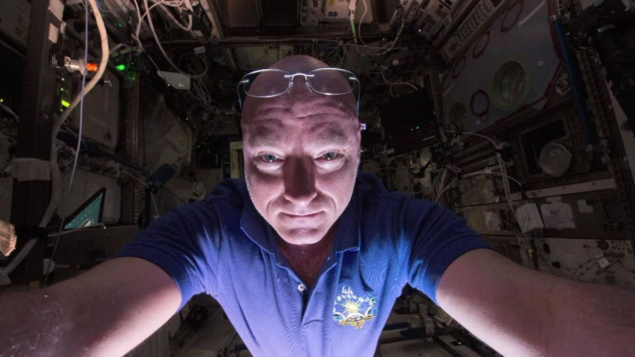 Astronaut Scott Kelly posted selfies of himself from the International Space Station to Twitter.