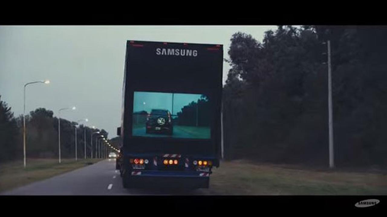 Samsung 'clear' safety truck aims to make roads safer