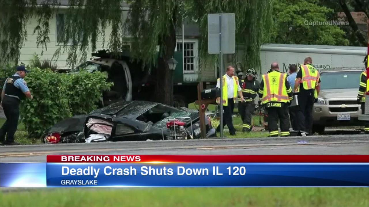 IL-120 in Grayslake temporarily closed due to deadly crash