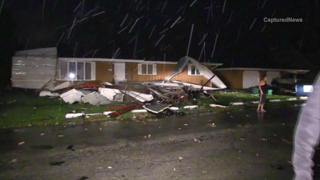 Storm damage in Coal City