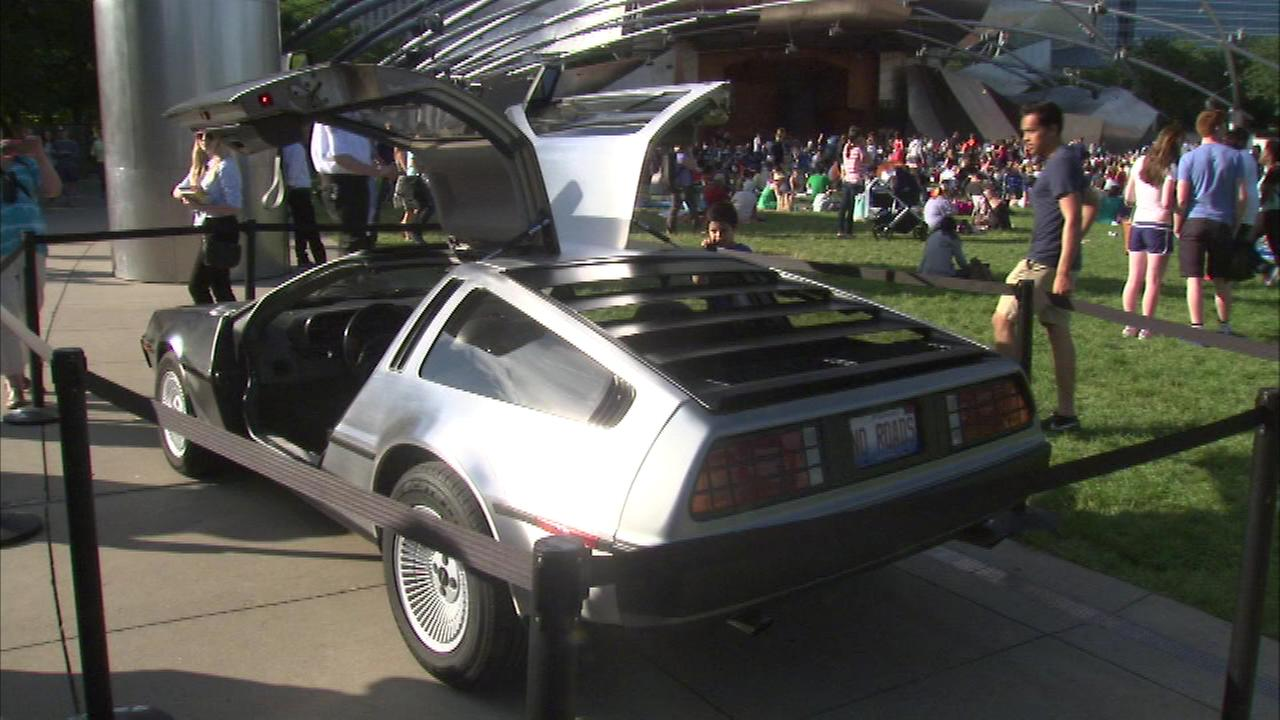 Millennium Parks Summer Film Series kicked off Tuesday night with Back to The Future.