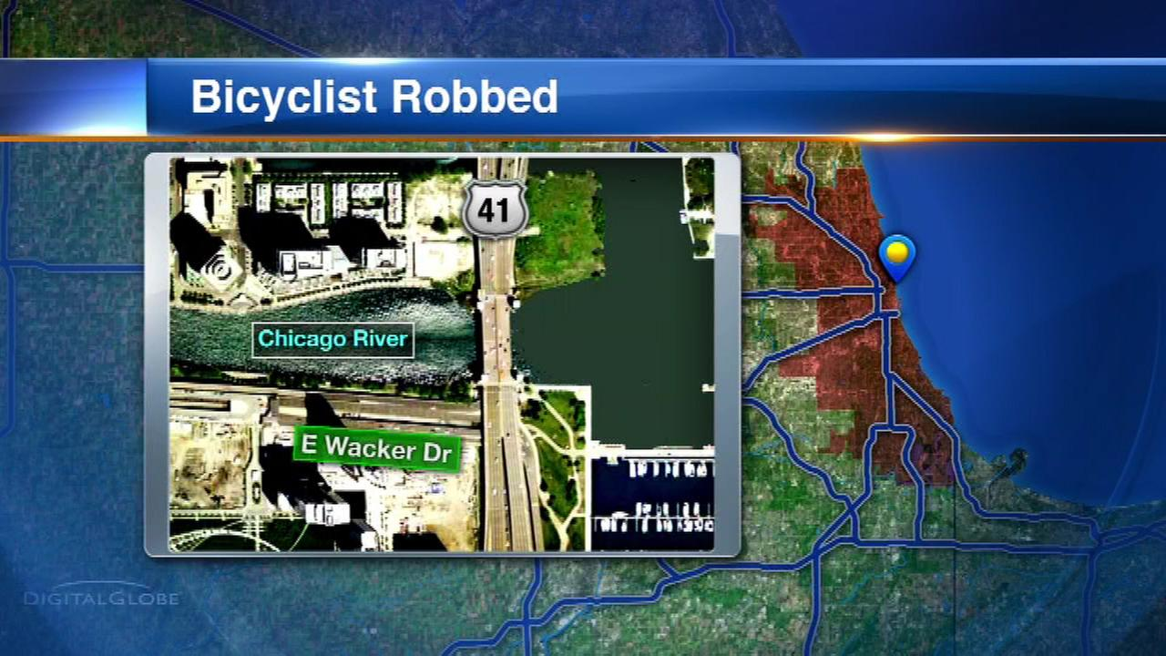 A woman out on the Lakefront Trail bike path Thursday morning says she was knocked off her bike, and then her attacker made off with the bike.