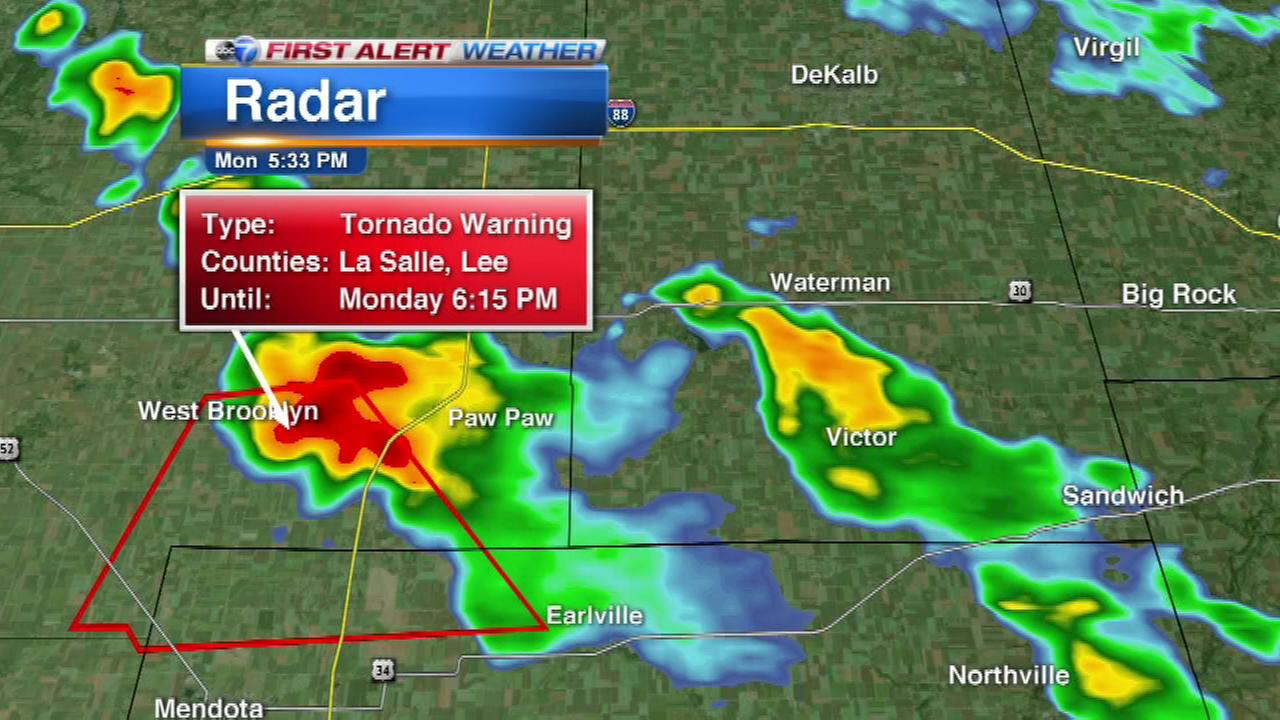 Tornado Warning canceled for LaSalle, Lee counties