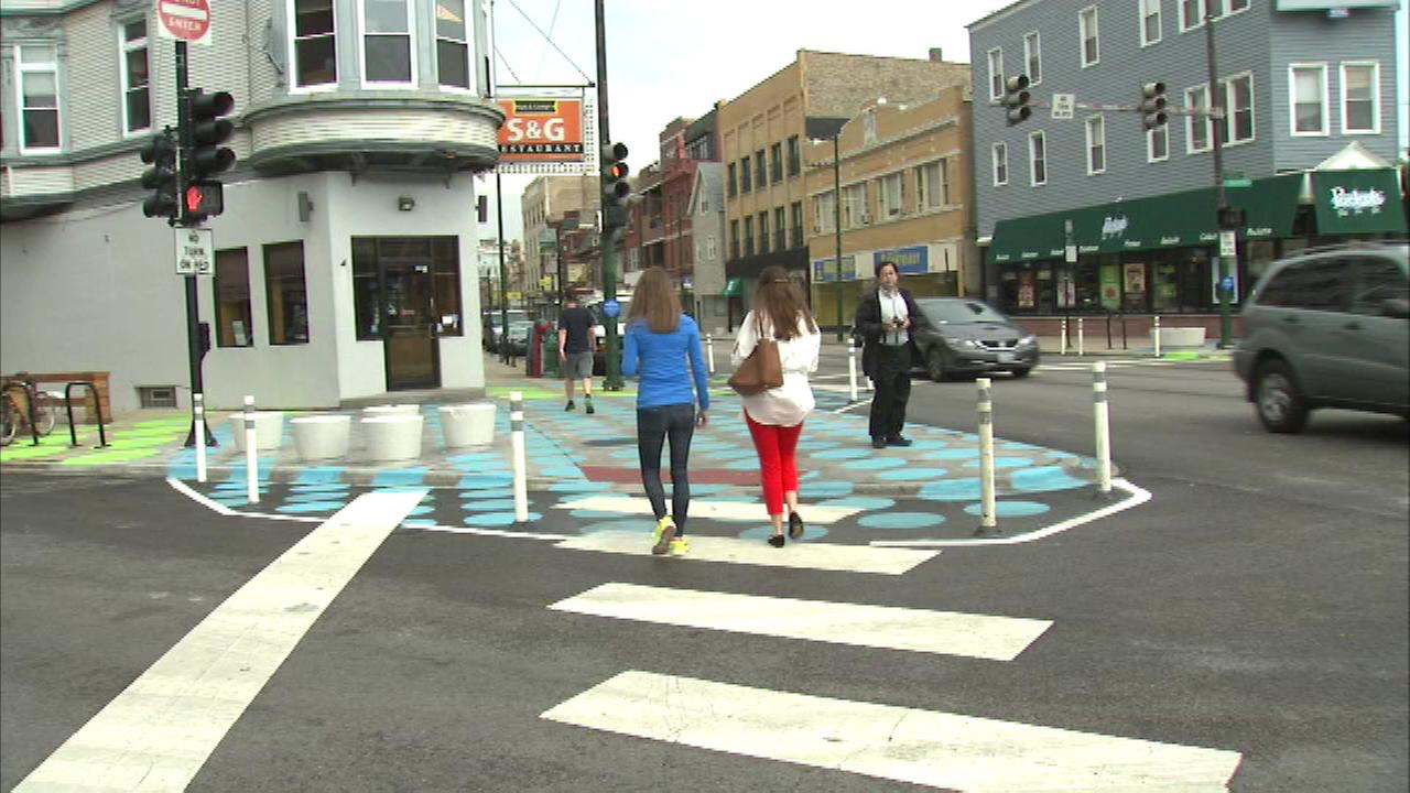 The intersection of Lincoln, Southport and Wellington is being called the citys first people street. The effort aims to create environments that are more people friendly.