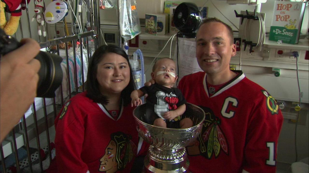 Stanley Cup visits North Shore Evanston Hospital