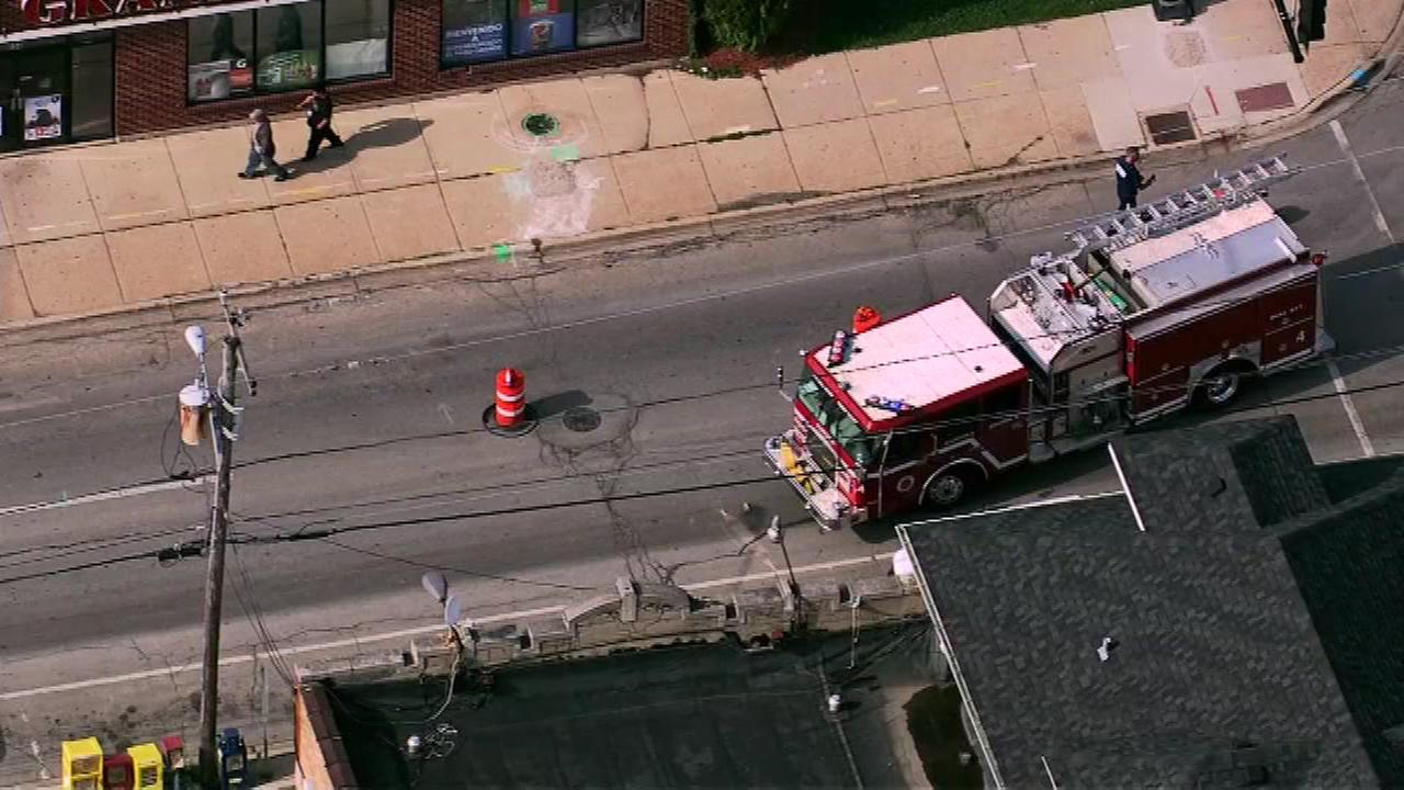 Fifteen homes were evacuated Monday afternoon as crews checked out a ruptured gas main in west suburban Aurora.