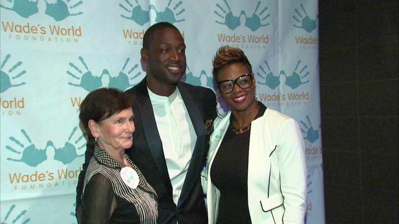 NBA superstar Dwyane Wade came back to his hometown Wednesday night to help local kids.