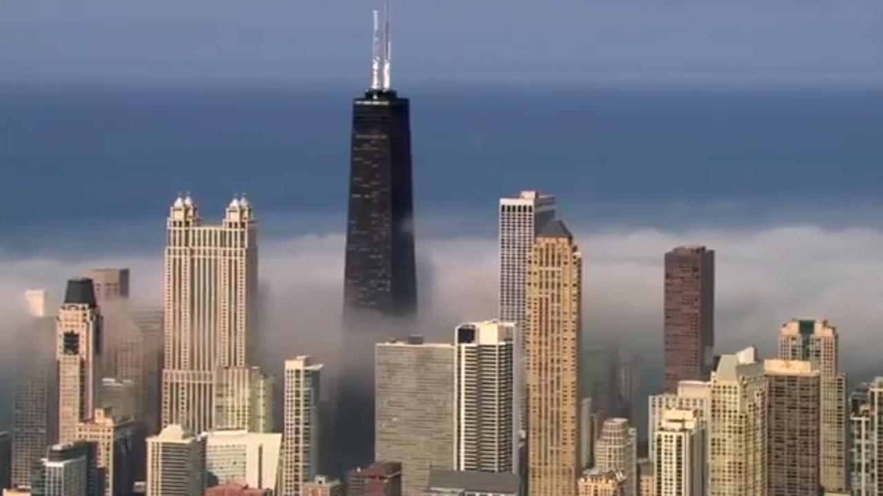 The fog rolls in off Lake Michigan in this video by Chopper 7 HD