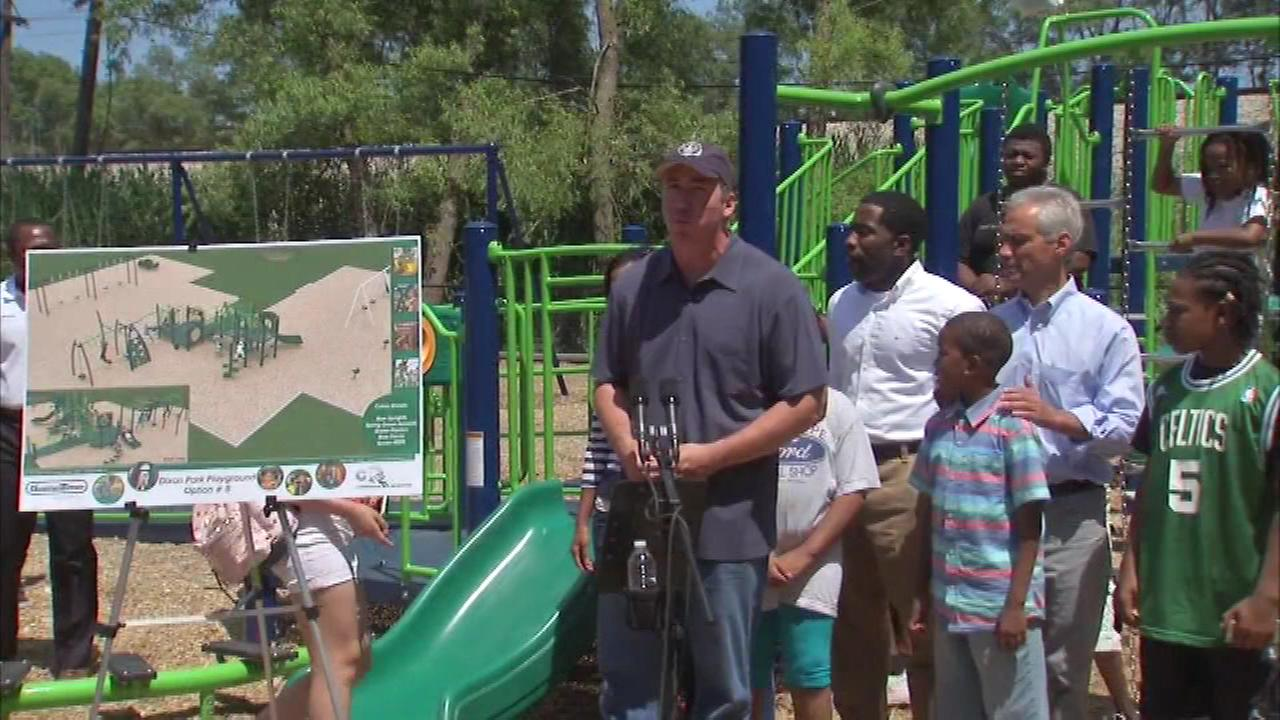 The children of Chicagos Avalon neighborhood have two new playgrounds to enjoy.