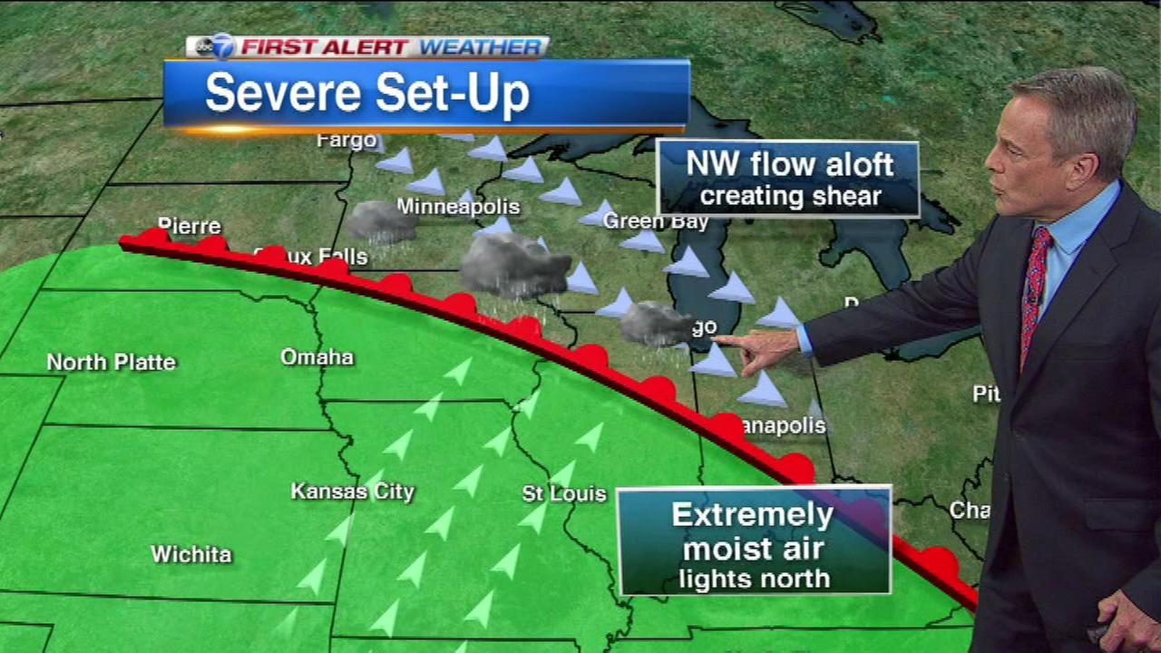 Chicago Weather:  Area bracing for potential Monday storms