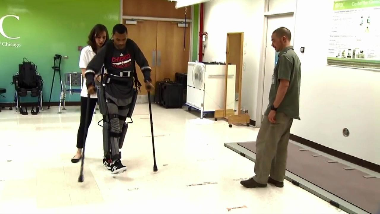 Fundraiser held for paralyzed coach's new 'exoskeleton'