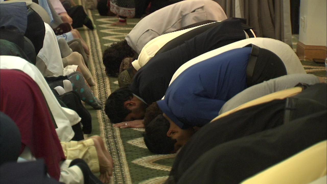 Hundreds of Muslims in one western suburb mark the end of Ramadan with a traditional festival Saturday.