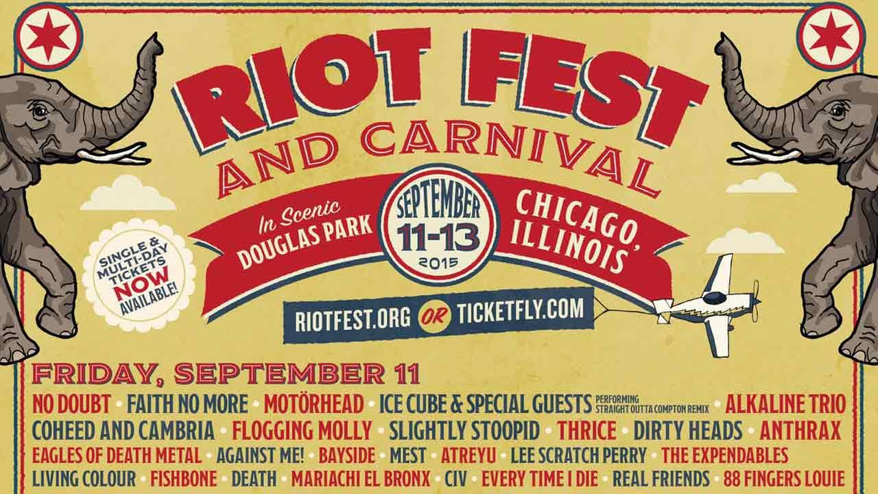 Riot Fest will be held in Douglas Park from Sept. 11-13.
