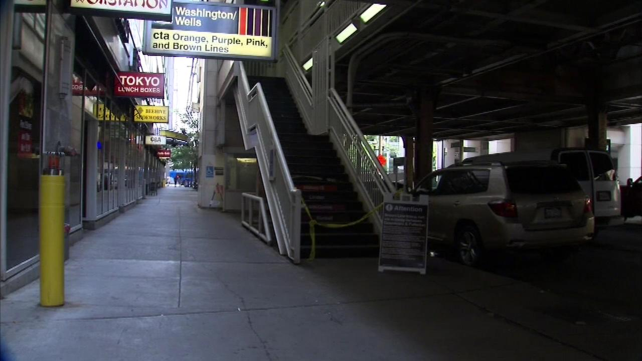 Chicago police say a body was found lying on the Washington-Wells CTA stop platform in the Loop.