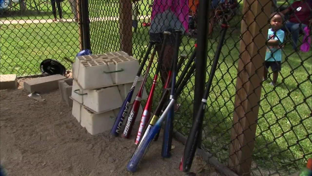 A Little League team from Chicago scrambled before its game Saturday after all of their baseball equipment had been stolen.