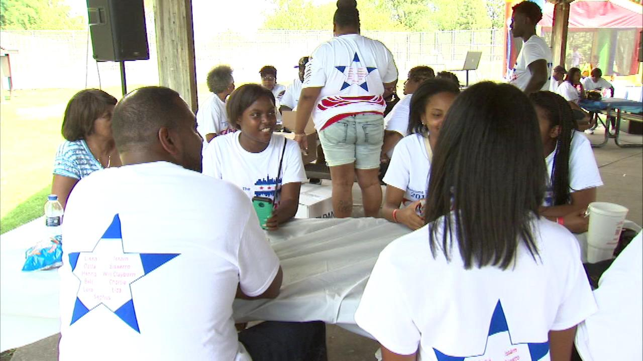 Eighteen-year-old Greanna Marshall met her relatives for the first time at the big reunion picnic that they hold in suburban Lombard every two years.