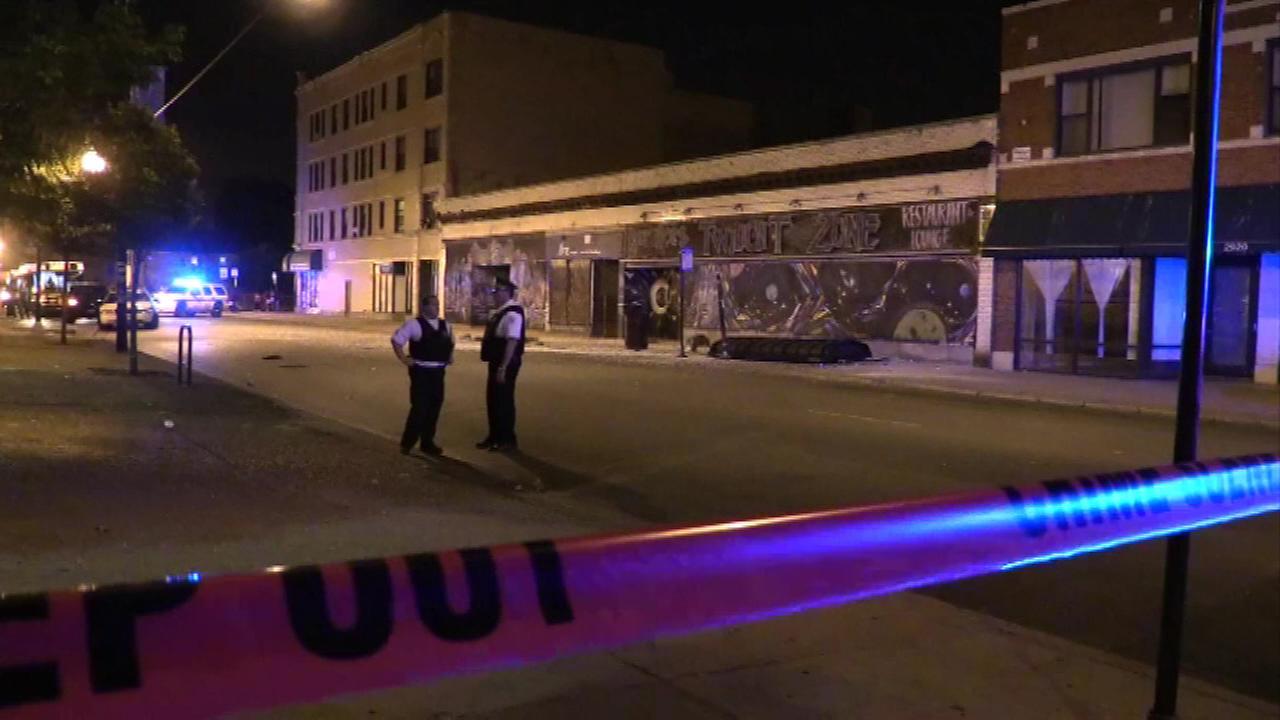 3 injured after pair shot in car crash into bus stop