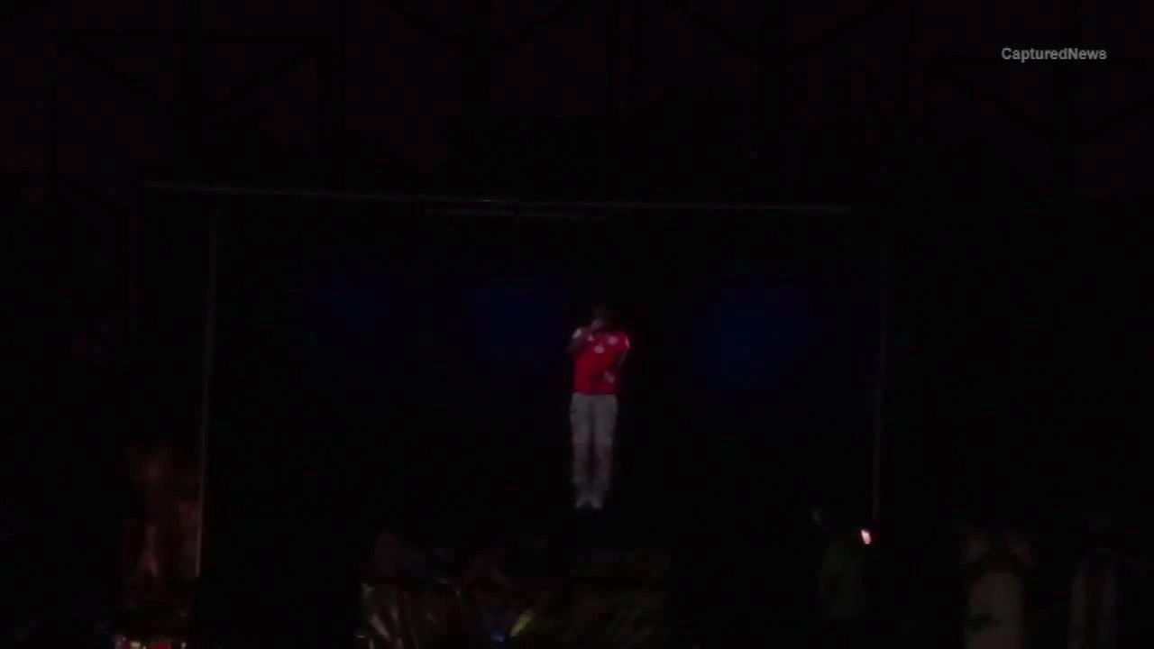 Chief Keef performs via hologram at Craze Fest in Hammond, Ind.