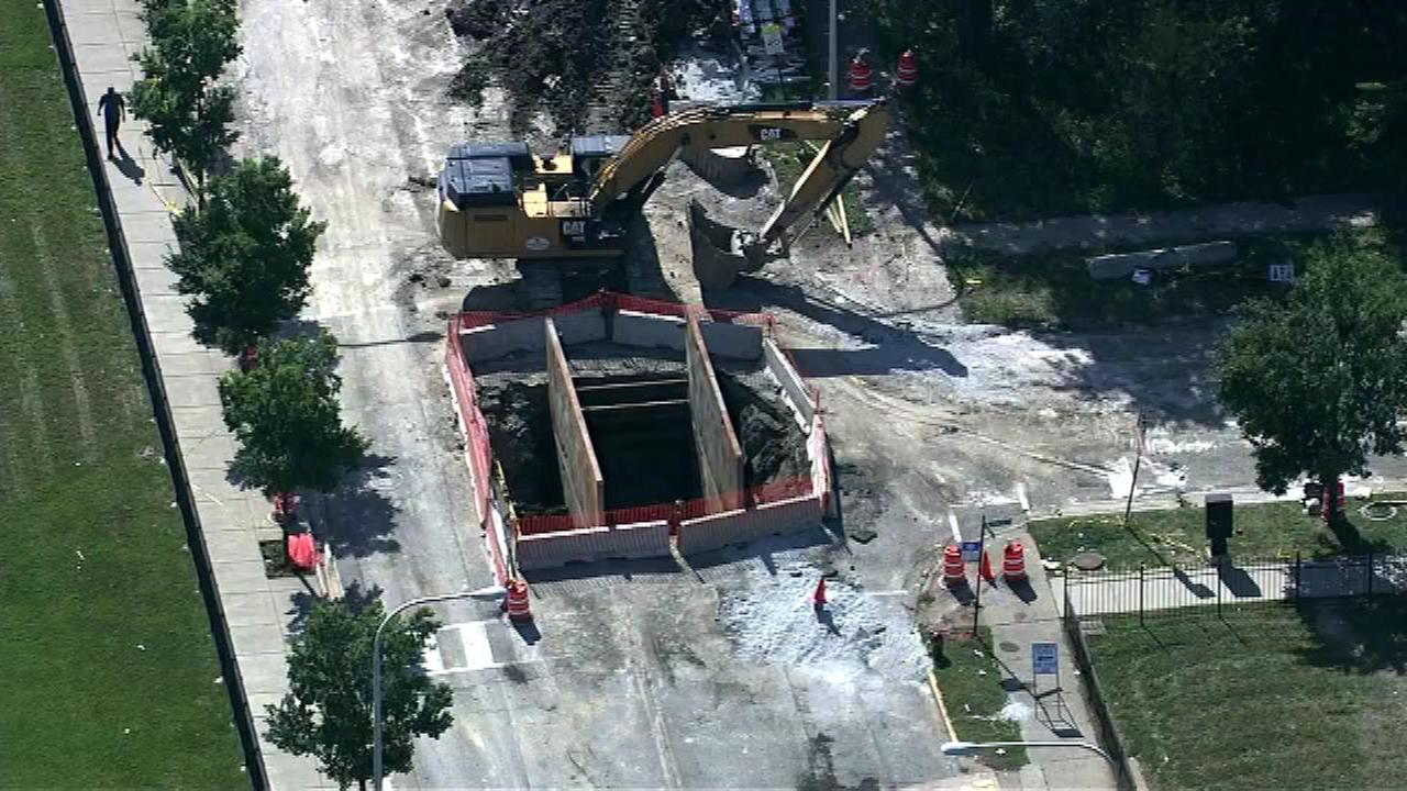 A sinkhole on the citys South Side will have a street closed for at least another week.