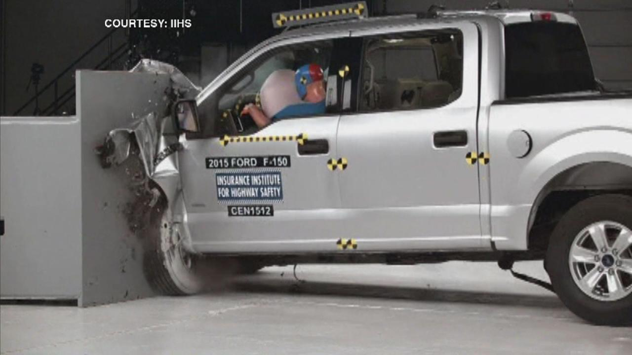 Crash tests reveal potential risk in Ford F-150