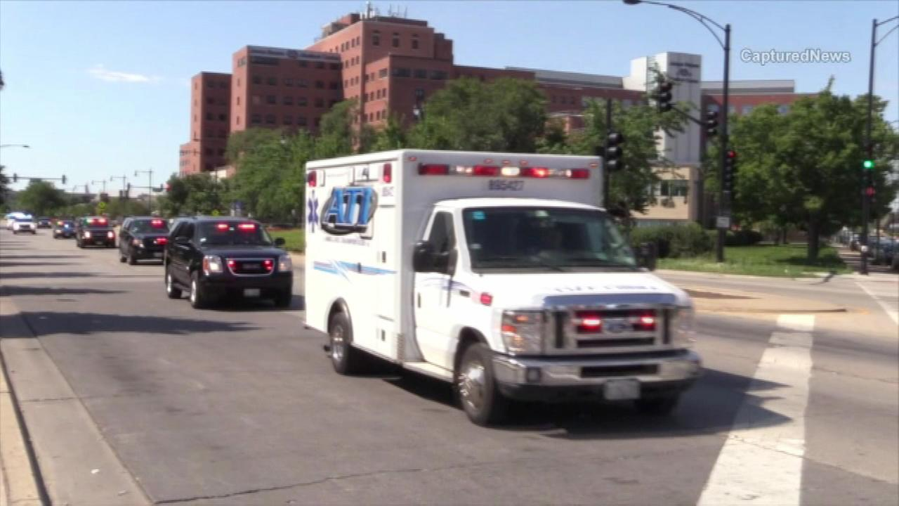 A member of the Chicago Fire Department is rushed the hospital Saturday after getting injured battling a fire on the citys South Side.