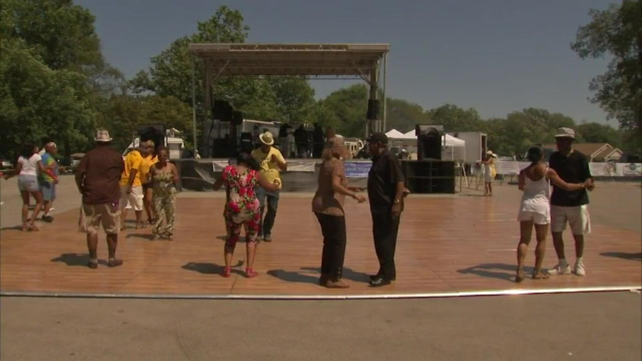 Families gathered in suburban Calumet City for the Worlds Largest Steppers Family Day Cook-Out and Dance Party Sunday.