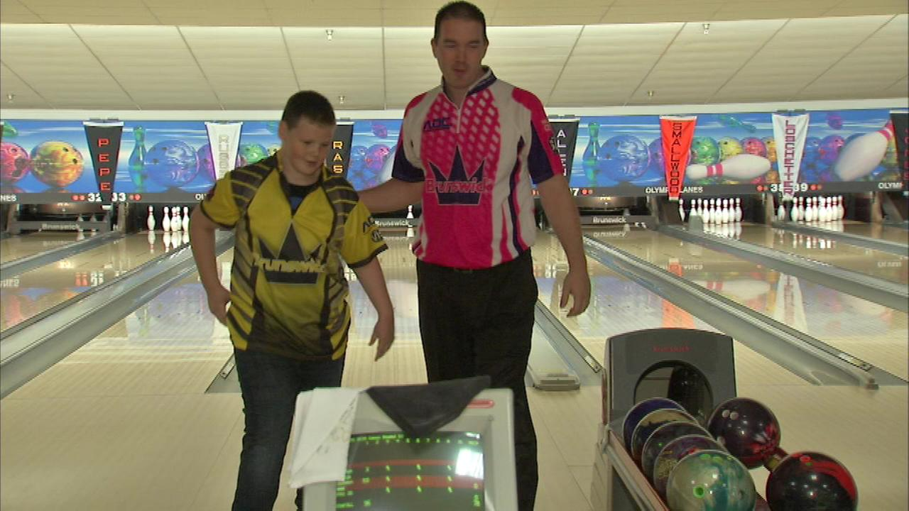 When the Make-A-Wish Foundation found out that Solomons favorite bowler was Sean Rash of Montgomery, the organization brought the two together.