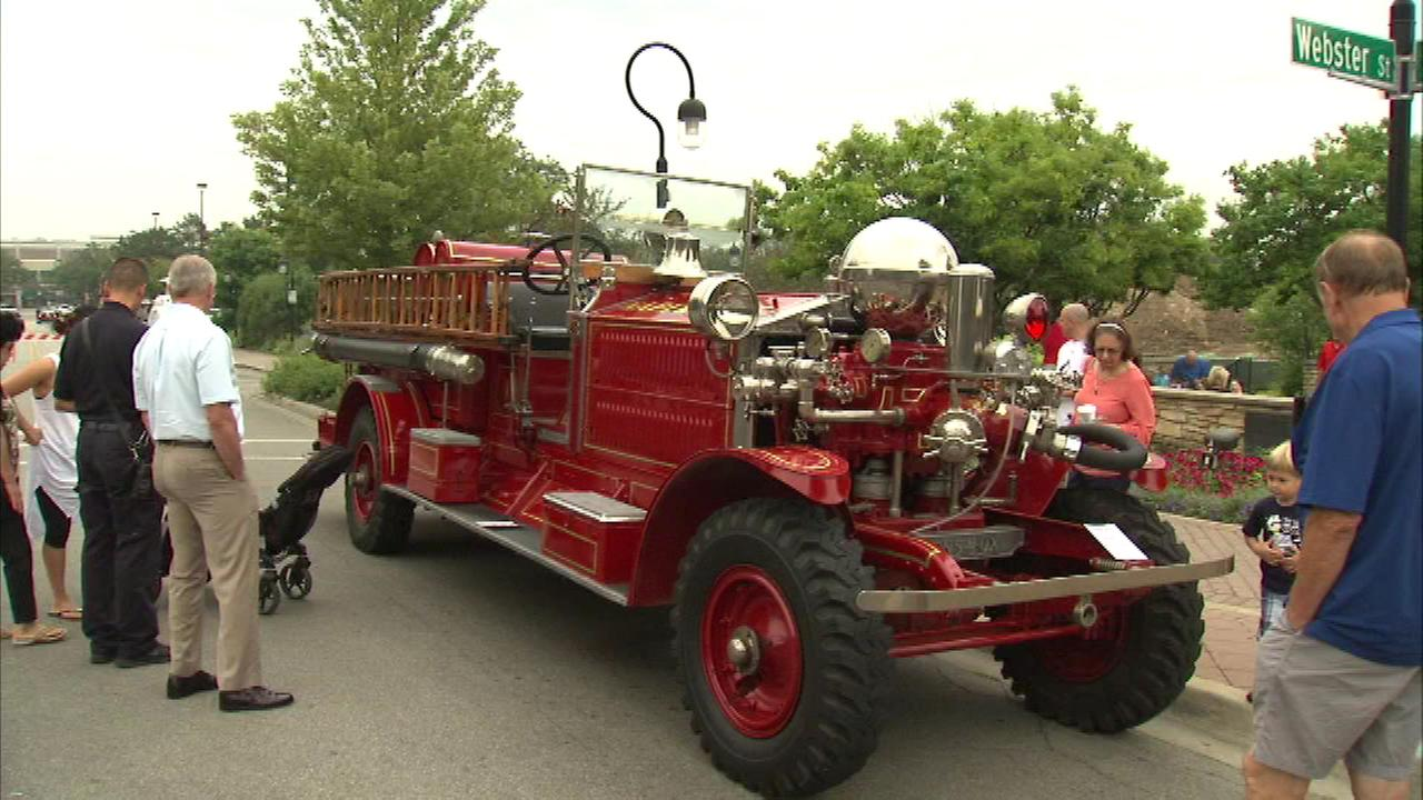A parade featuring dozens of old police cars and fire trucks was on display in the western suburbs Sunday.