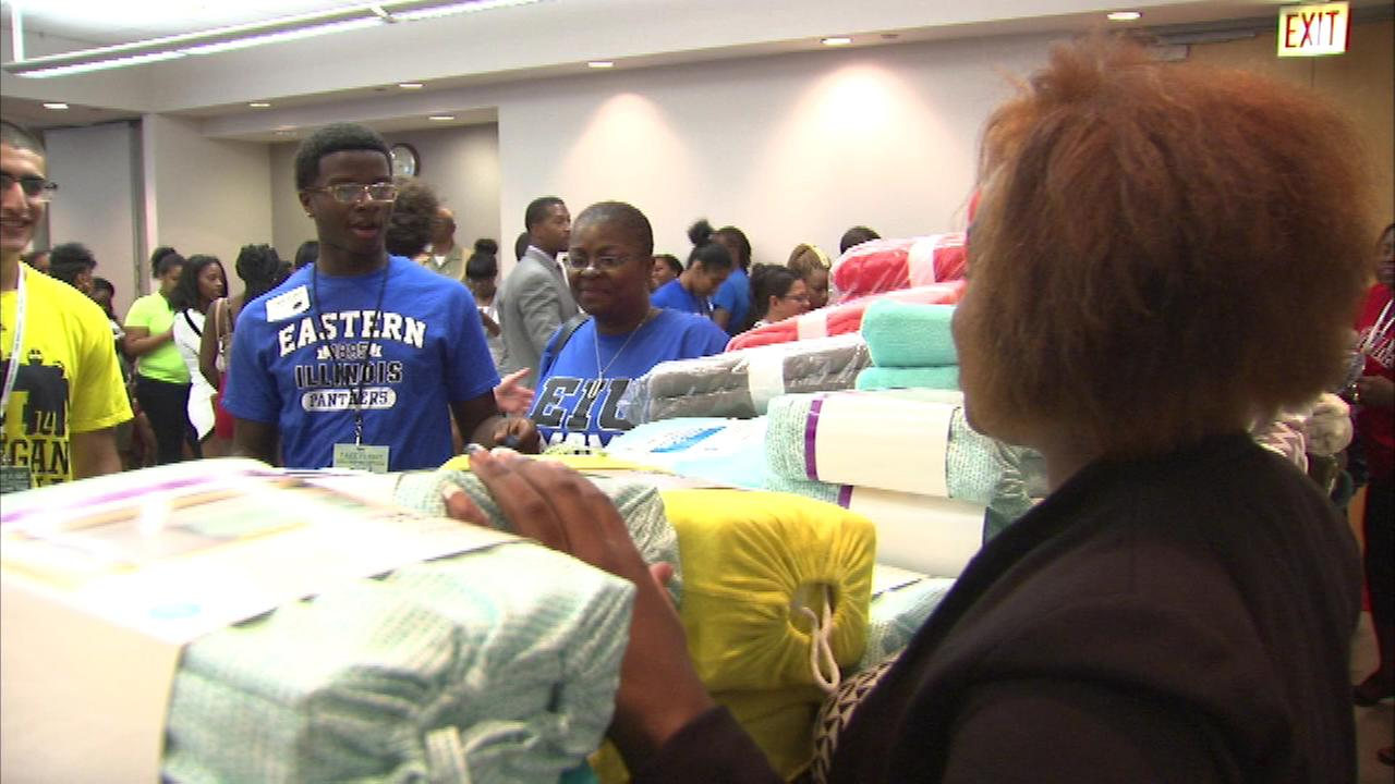 Soon-to-be college students were given a big send-off Monday, complete with school supplies, as they head to their campuses.