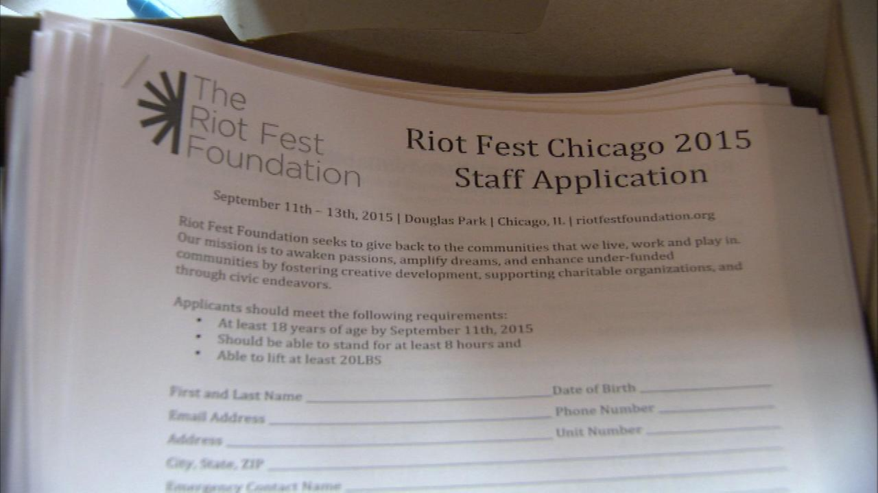Riot Fest holds job fair for September festival