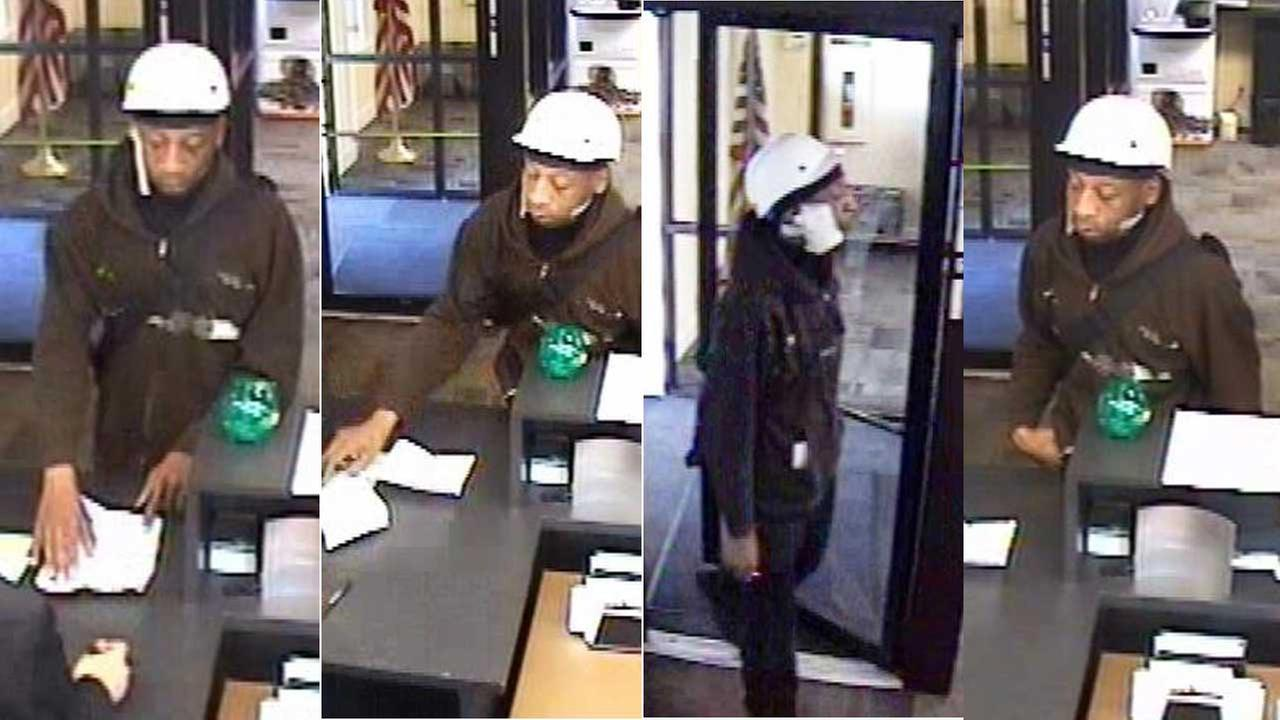 Man wanted in a bank robbery at a TCF branch in Oak Lawn, Ill., on August 11, 2015.