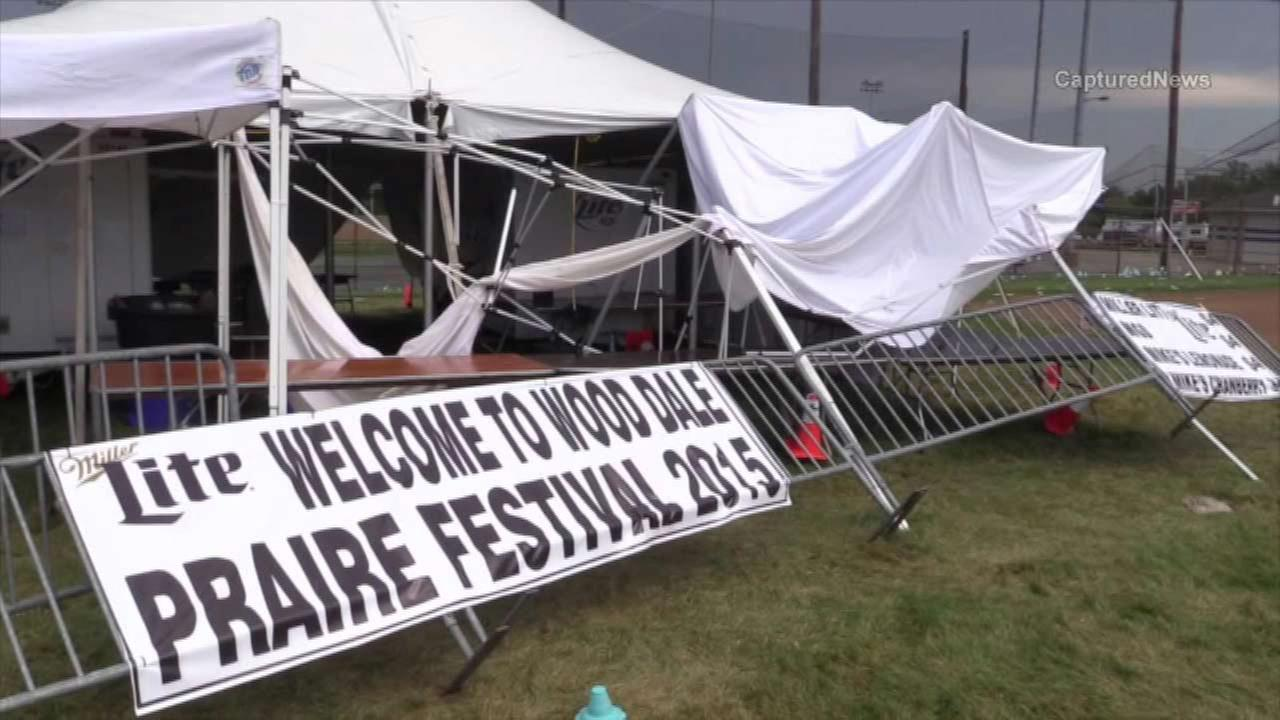 Wife of man killed in Wood Dale tent collapse files suit