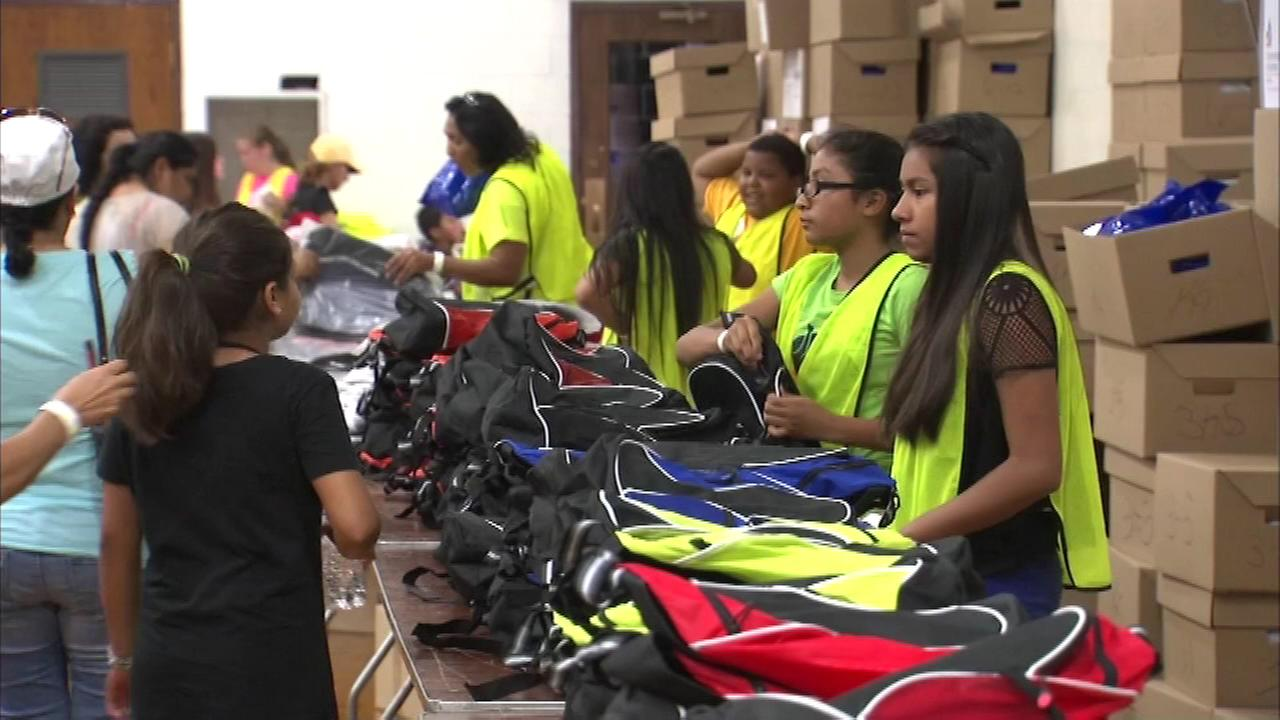 The Police Union is helping kids get ready to head back to school the western suburbs Saturday.