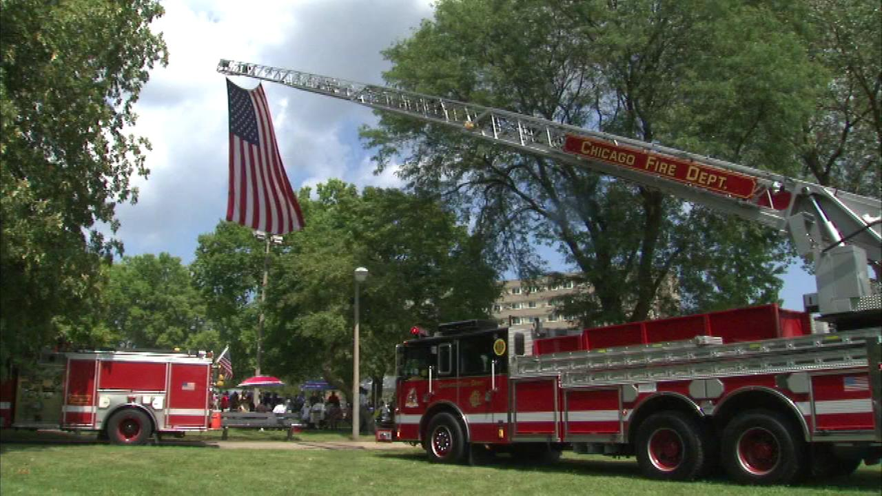 A park on the South Side was re-dedicated for the first African-American Chicago firefighter to die in the line of duty.