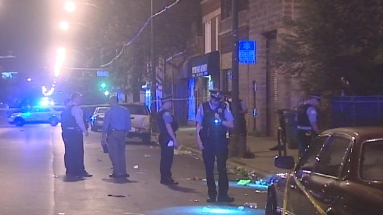 Woman shot while driving car near West Side party