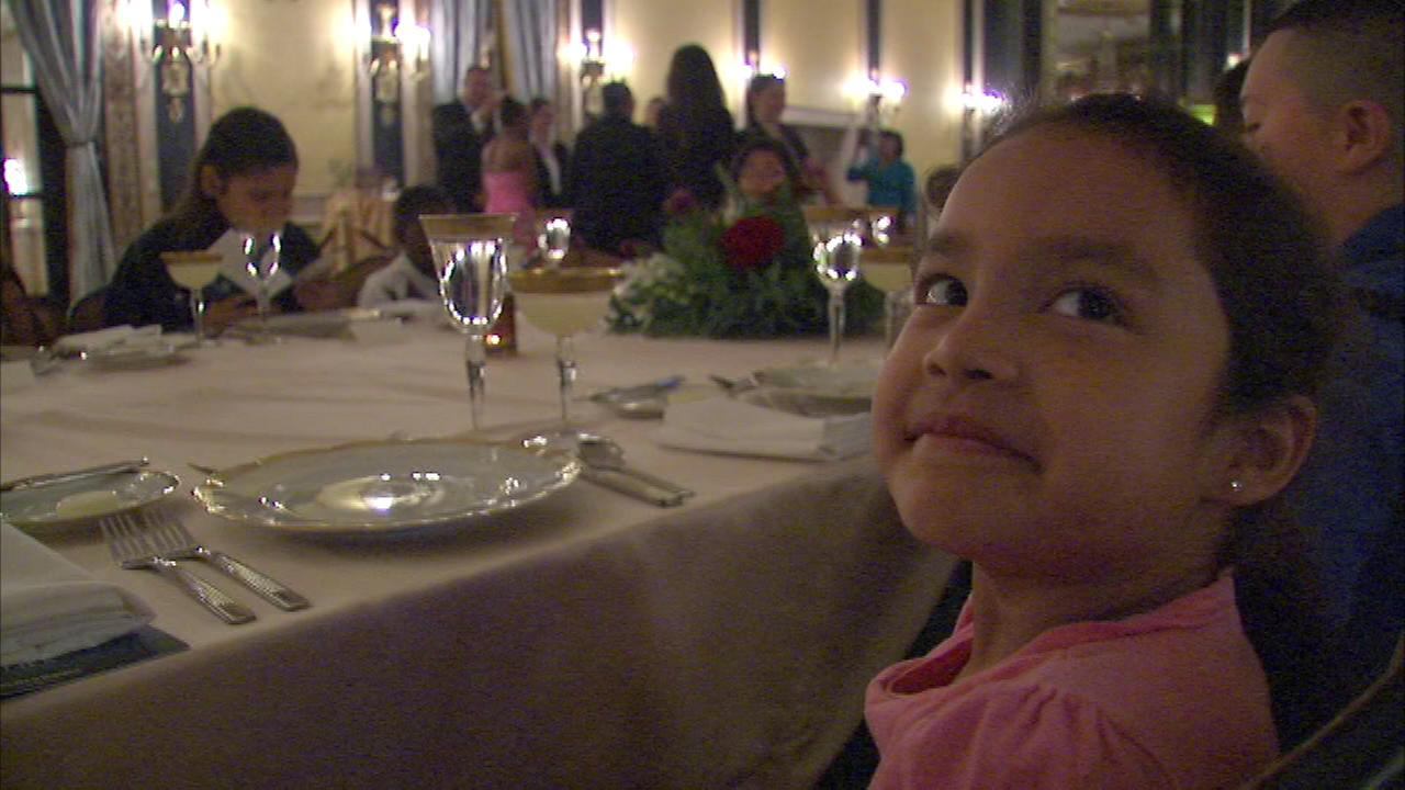 Sixty Chicago-area kids were treated to a great meal and lessons in etiquette at the Palmer House on Tuesday