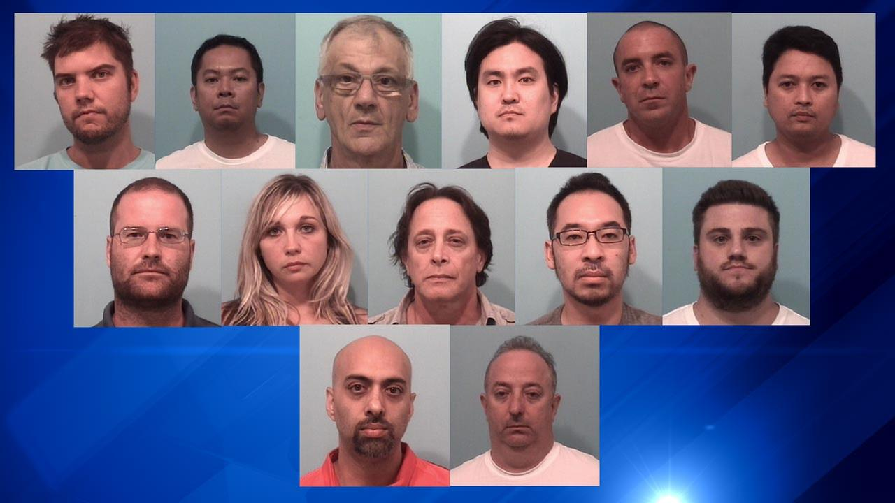 13 people were arrested in a Naperville illegal gambling ring bust.