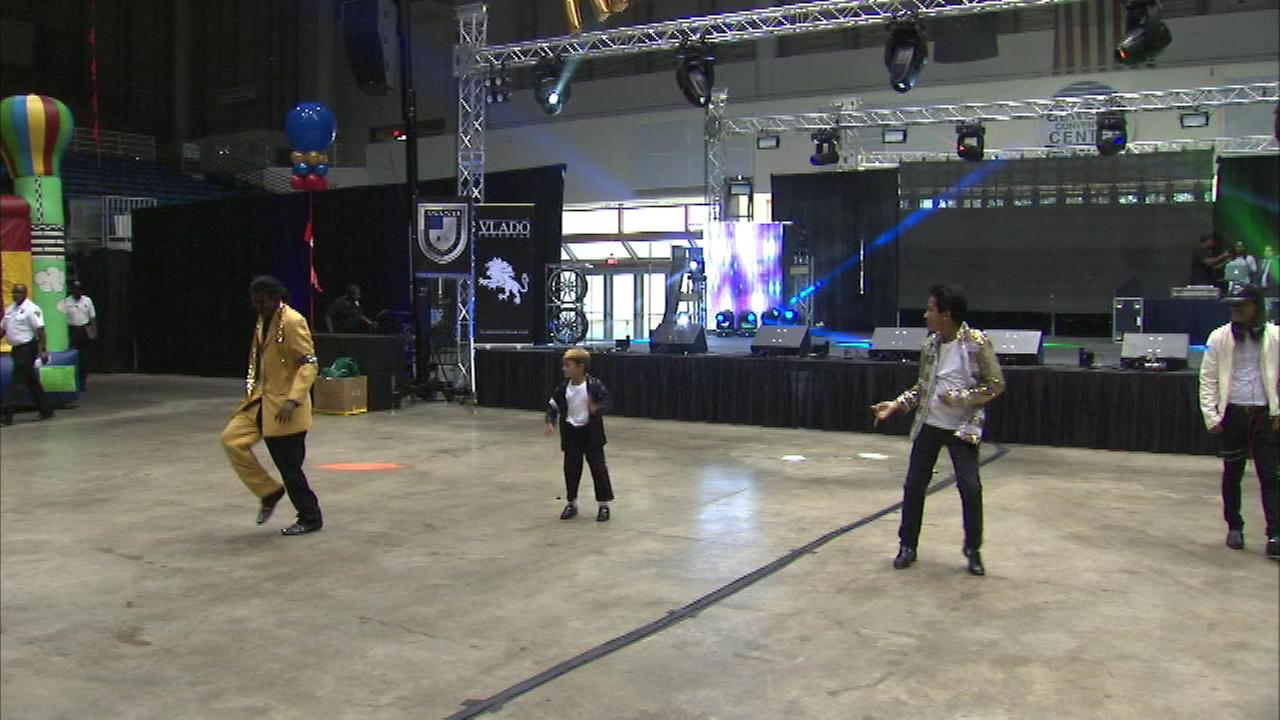 A tribute to Michael Jackson is being held at the Genesis Convention Center in Gary, Ind.