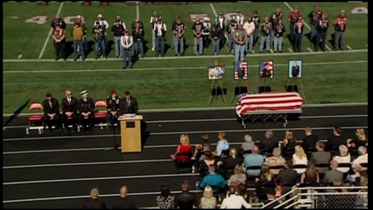 The Army skydiver who killed at the Chicago Air and Water Show was laid to rest Saturday in Ohio.
