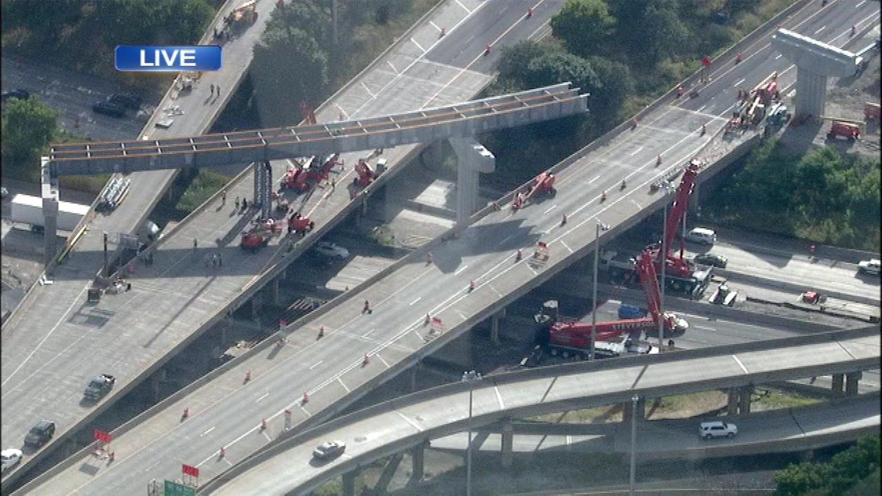 A huge reconstruction project continues to keep construction crews busy and lanes closed at the Jane Byrne Interchange Sunday.