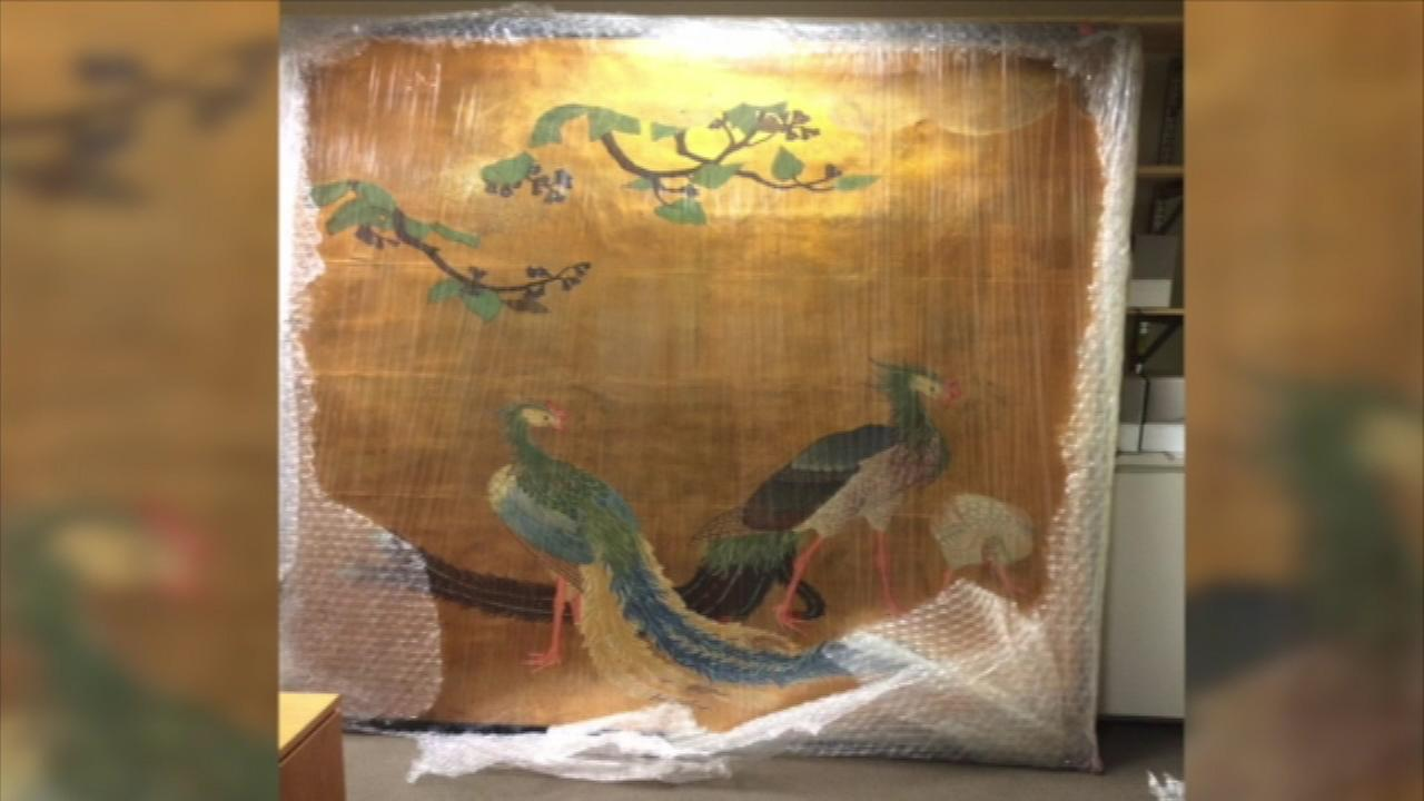 Japanese paintings from 1893 World's Fair found in storage facility