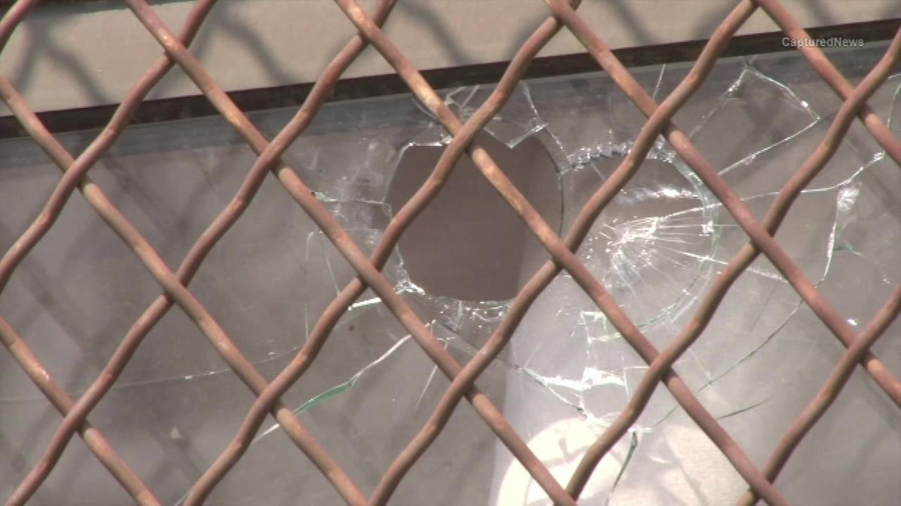 Circle Rock Charter School window hit by bullet