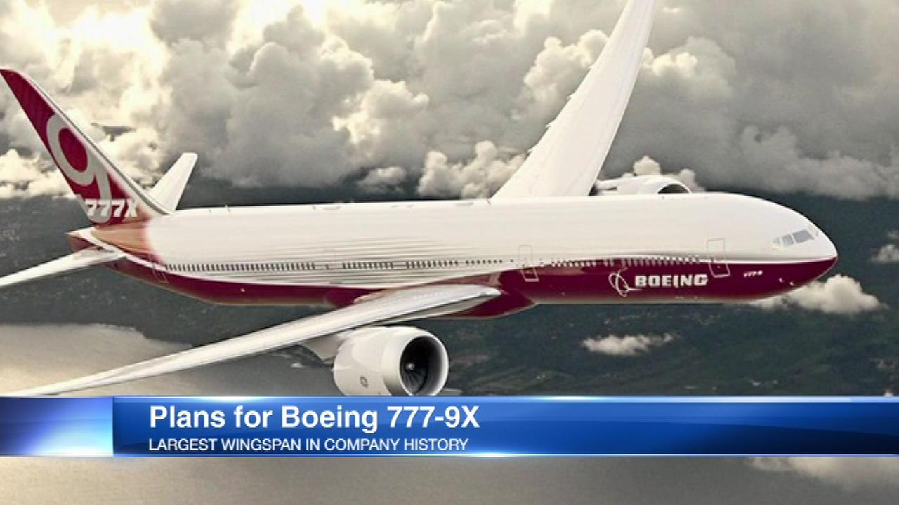Artist rendering of the Boeing 777-9X.